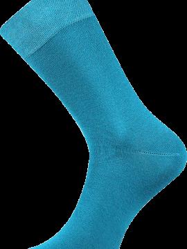 Bunte Socken zum Anzug blau