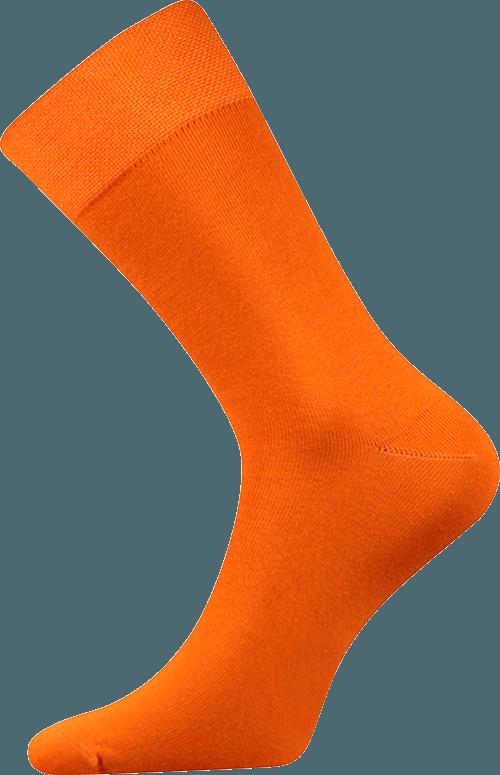 Bunte Socken zum Anzug orange