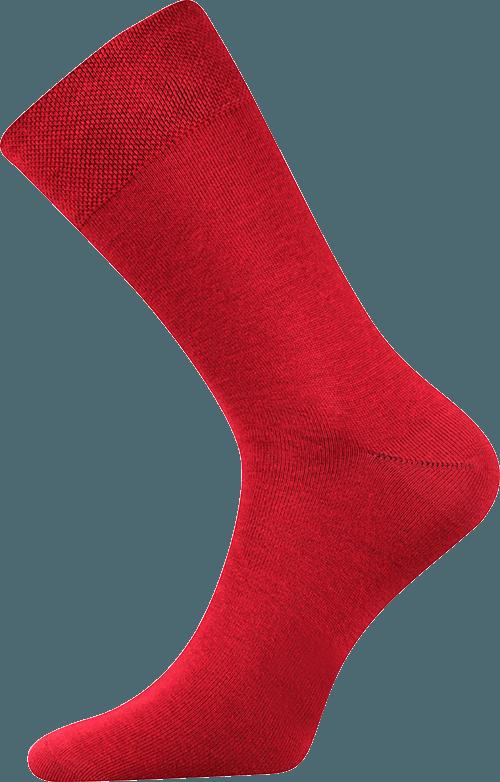 Bunte Socken zum Anzug rot