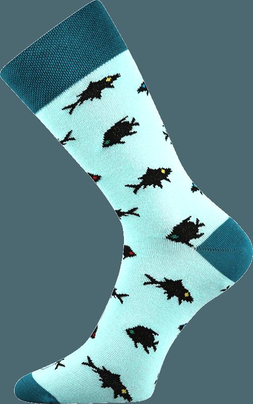 Bunte Socken Meeresmotiv blau