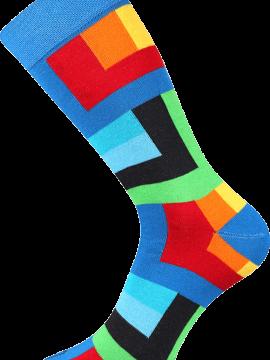 Bunte Socken für Künstler blau