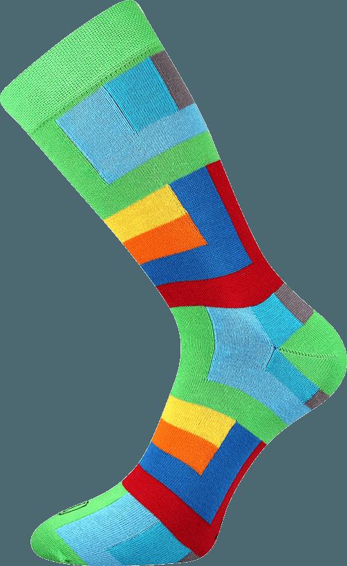Bunte Socken für Künstler grun