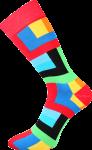 Bunte Socken für Künstler rot