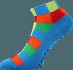 Bunte Socken für Sommer blau