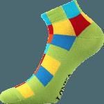Bunte Socken für Sommer grun