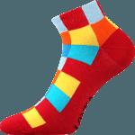 Bunte Socken für Sommer rot