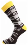 Bunte Socken mit Mammut am see