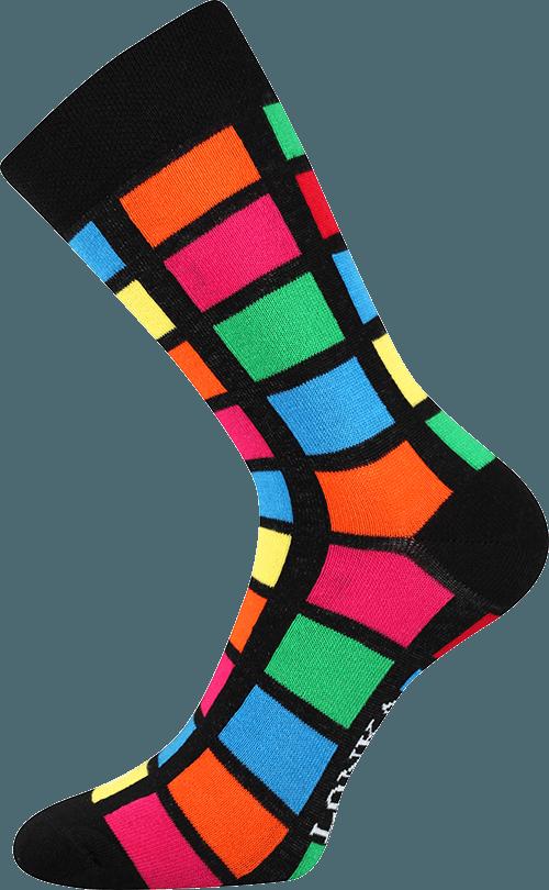 Bunte Socken mit Quadraten