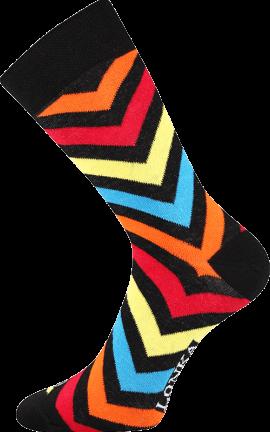 Bunte Socken mit Streifen