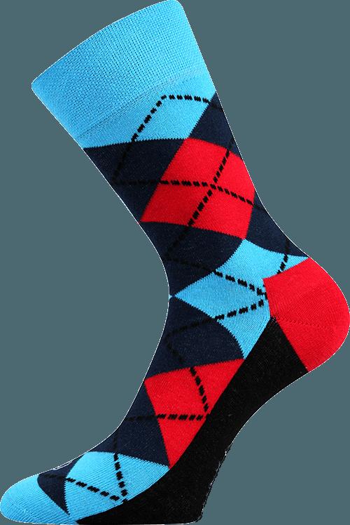 Bunte Socken mit Vierecken 1
