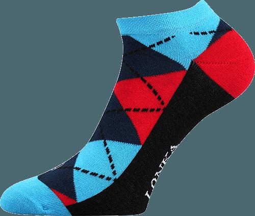 Bunte Socken mit Vierecken