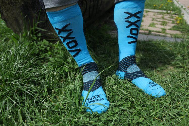 Nau Kompress Socken für Lauf Blau 1
