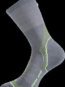 Socken aus Merinowolle grau