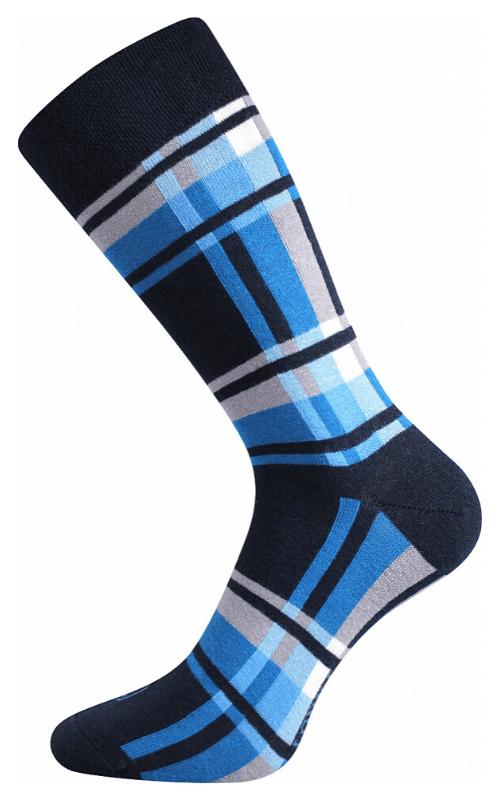 bunte Socken mit Würfeln ideal für die Stadt Blue