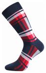 bunte Socken mit Würfeln ideal für die Stadt Rot