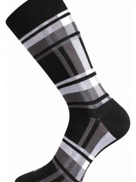 bunte Socken mit Würfeln ideal für die Stadt Schwarz