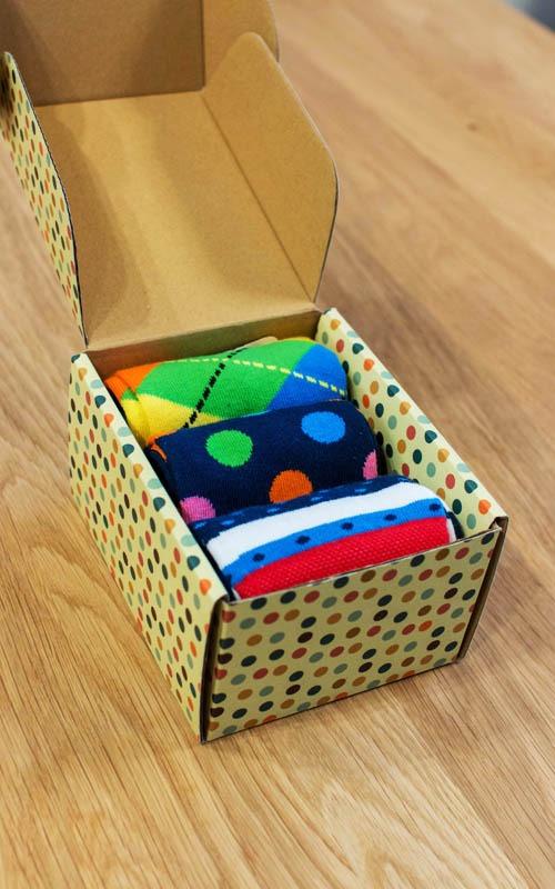 Geschenkbox mit 3 Paar Socken