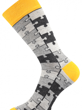 Socken mit Puzzle Motiv