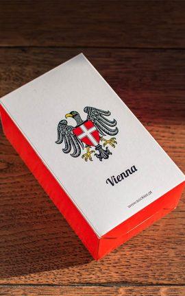 Geschenkbox für Socken mit Wien Motiv
