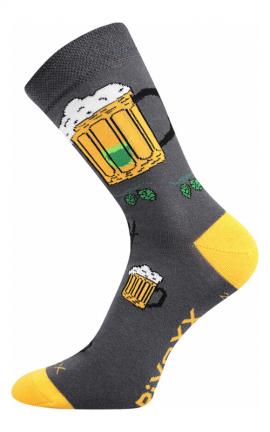 Bunte Socken mit Biermotiv in Wien