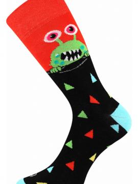 Bunte Socken mit UFO