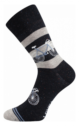Bunte Socken mit Citybike