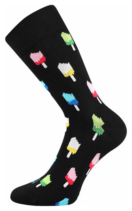 Bunte Socken mit Eis