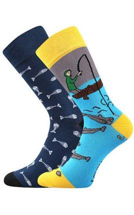 Bunte Socken mit Fischer