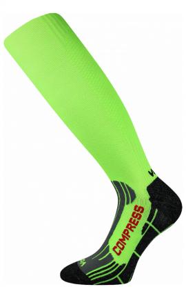 Kompress Socken für Lauf Lime Grün