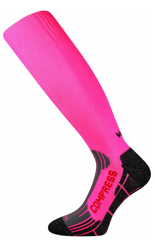 Kompress Socken für Lauf Rosa