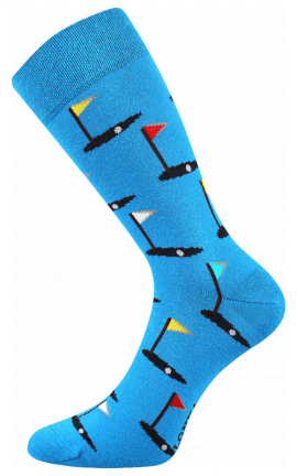 Bunte Socken Golf in Blau Color