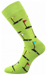 Bunte Socken Golf in Gruen Color