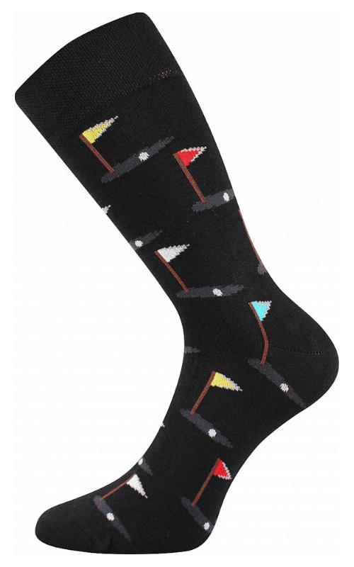 Bunte Socken Golf in Schwarz Color