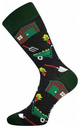Bunte Socken Garten
