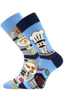 Bunte Socken mit Koch
